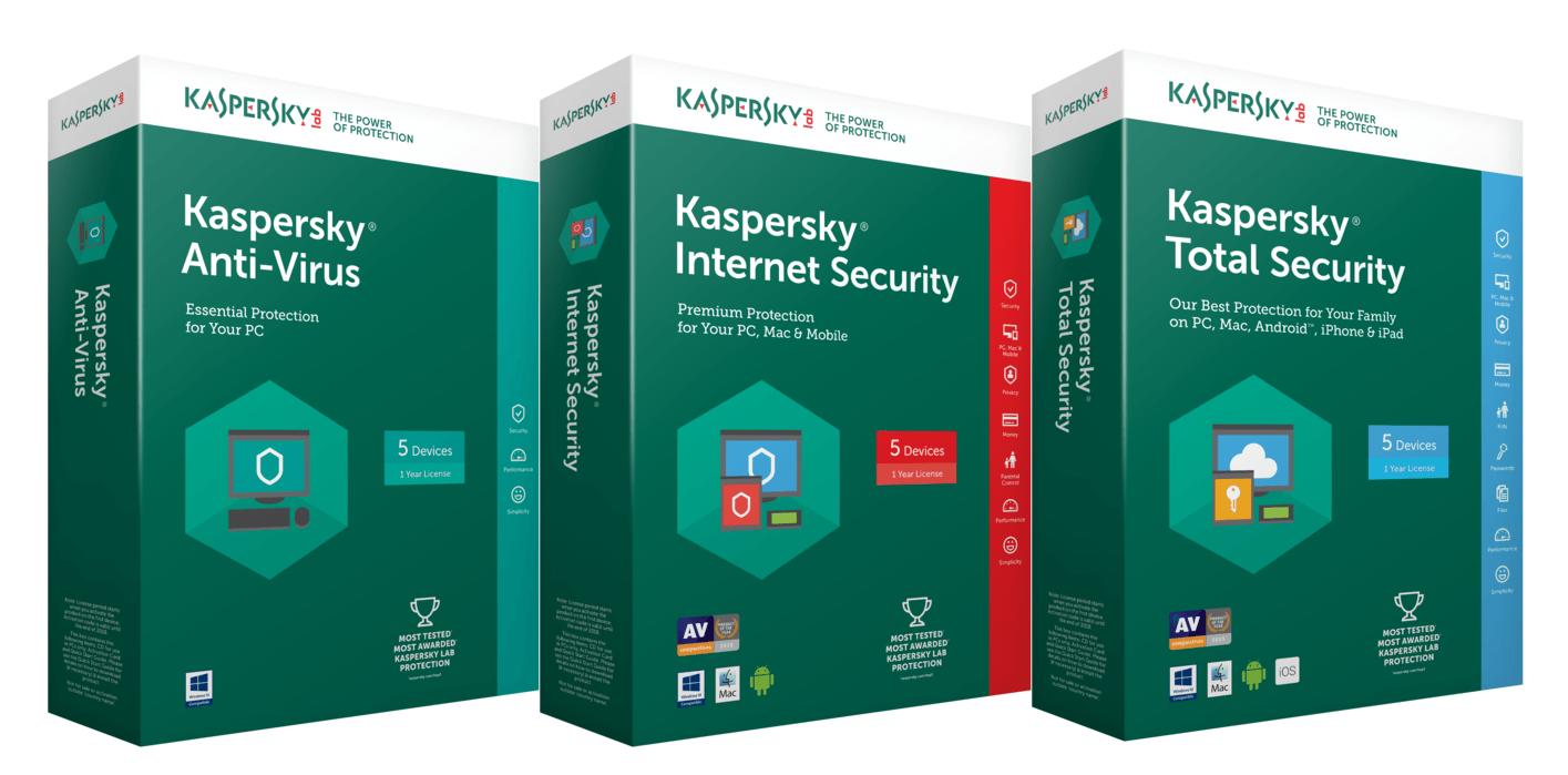 Kaspersky antivirus avec clé d'activation pour 1 an